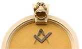 Türbogen mit Freimaurersymbol